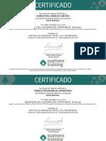 Se Otorga El Presente Certificado A
