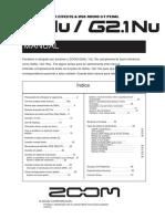 Zoom G2 Manual