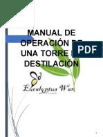 MANUAL DE OPERACIÓN DE UNA TORRE DE DESTILACIÓN.docx