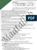 Devoir de Synthèse N°1 - Math - Bac Math (2009-2010) Mr Maatallah