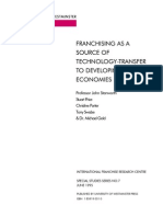 IFRC #7 - Stanworth et al Jun 1995 - Franchising as a Source of Technology-Transfer to Developing Economies