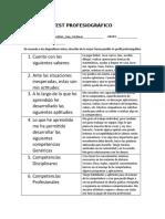Test Profesiográfico- 4to semestre bloque II