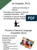 Process of Second Language Acquisition (SLA)