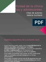 Especificidad de la clínica con niños y adolescentes