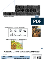 PRIMEROS POBLADORES DEL PERÚ