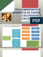ACTO ADMINISTRATIVO. REQUISITOS DE VALIDEZ. NULIDADES, REGLAS SOBRE  COMPETENCIA (1)