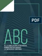 CARTILLA ABC DE LA CONCILIACIÓN EXTRAJUDICIAL ADMINISTRATIVA DURANTE EL ESTADO DE EMERGENCIA  FINAL