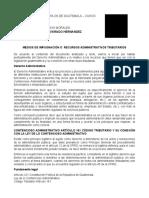 MEDIOS DE IMPUGNACIÓN O  RECURSOS ADMINISTRATIVOS TRIBUTARIOS.docx