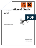 preparation of Oxalic acid