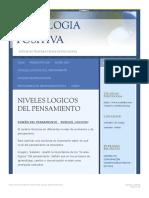 NIVELES LOGICOS DEL PENSAMIENTO PSICOLOGIA POSITIVA