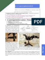 TP Prisme et spectrophotométrie