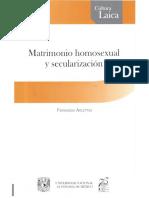 Matrimonio Homosexual y Secularización, Fernando Arlettaz