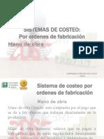 PARTE 7 SISTEMAS DE COSTEO - MANO DE OBRA