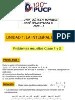 Problemas resueltos Clase 1 y Clase 2