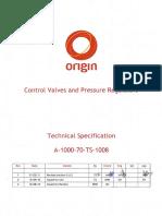 [Pcm] - Control Valves and Pressure Regulators - Technical Specification