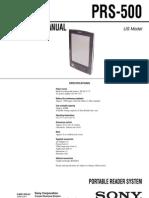 Sony Reader PRS500 Service Manual (2006)