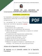 Breve Descripción de los Estudios de Ingeniería Conceptual, Básica y Detallada.pdf