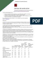 Bibliothèque des propriétés physiques des matériaux de construction - Citemaison