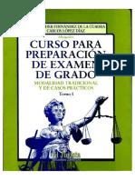 Curso Examen de Grado C Lopez Diaz y Otro Tomo I PDF