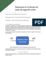 Práctica 6 - Respuesta en el tiempo de sistemas lineales de segundo orden