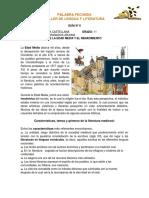 GUÍA N°6 LITERATURA DE LA EDAD MEDIA Y EL RENACIMIENTO GRADO 11