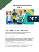 Entrenamiento en población infantil y juvenil