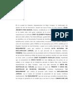 ACTA DE DECLARACION JURADA