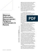 Nikolay Smirnov Shaman, Schismatic, Necromancer- Religious Libertarians in Russia