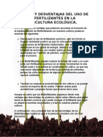 VENTAJAS Y DESVENTAJAS DEL USO DE BIOFERTILIZANTES EN LA AGRICULTURA ECOLÓGICA