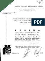 PREVALENCIA DE DENTICIONES BAUME