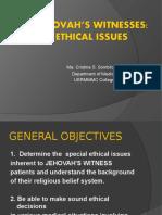 [PPT] Bioethics Jehovah's Witnesses - Dr. Sombilon