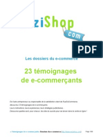 """e-Commerce - Temoignages"" Wizishop.com"