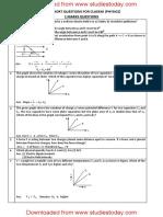 CBSE Class 12 Physics 1 mark Question Bank