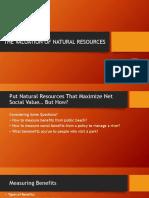 Pert 6 Natural Resource Economics - Values and Valuation
