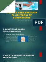 MEDIDAS PARA PREVENIR EL CONTAGIO DE CORONAVIRUS