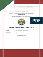 SISTEMA NACIONAL TRIBUTARIO