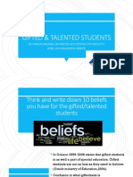 9. GIFTED AND TALENTED STUDENTS