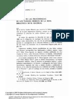 Gregorio DE ANDRÉS, «Procedencia de los mss. hebreos del Escorial»
