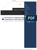 Documentos y Registros Obligatorios Requeridos Por ISO 450012018