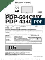 Pdp 434cmx Pdp 504cmx