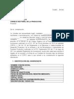 Solicitud de Contrato de Inversion 2016 - Ecuador