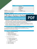 Plano curricular Gestao Financeira I