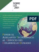 Informe Sobre Desarrollo Humano 2001. Naciones Unidas