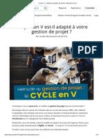 Cycle en V _ méthode de gestion de projet et alternative Scrum