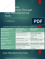 Productivity Improvement Through Lean Manufacturing Tools