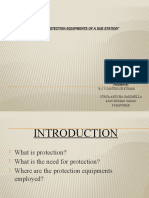 Study of Protection Equipments of a Sub Station
