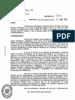Decreto continuidad aislamiento hasta 10 de mayo en Santa Fe