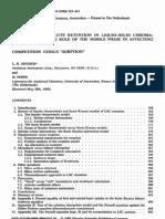 Liquid Solid Chromatography Mechanism of Retention