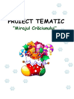 Mirajul Crăciunului proiect tematic grupa mica
