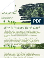 Earth Day Name and the Significance of April 22nd